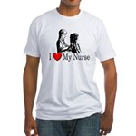 I Love My Nurse Fitted T-Shirt