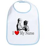 I Love My Nurse Bib