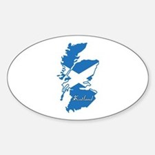 Cool Scotland Oval Decal