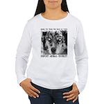 Report Animal Cruelty Dog Women's Long Sleeve T-Sh