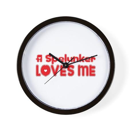 A Spelunker Loves Me Wall Clock