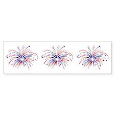Fireworks Trio Bumper Bumper Sticker