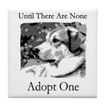 Until There Are None...Adopt Tile Coaster