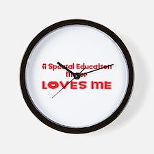 A Special Education Major Loves Me Wall Clock