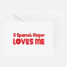 A Spanish Major Loves Me Greeting Card