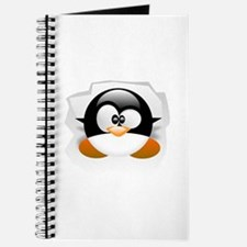 Tux looking up Journal