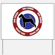 Irish Terrier Bullseye Yard Sign