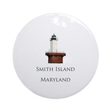 """Smith Island"" Lighthouse Ornament (Round)"