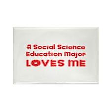 A Social Science Education Major Loves Me Rectangl