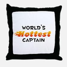 World's Hottest Captain (B) Throw Pillow
