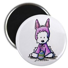 "Easter Bunny Westie 2.25"" Magnet (10 pack)"