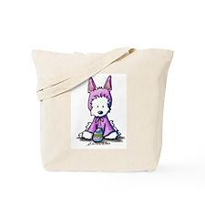 Easter Bunny Westie Tote Bag
