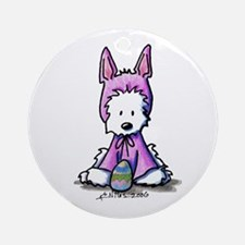 Easter Bunny Westie Ornament (Round)
