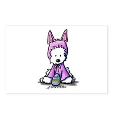 Easter Bunny Westie Postcards (Package of 8)