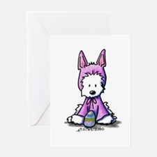 Easter Bunny Westie Greeting Card