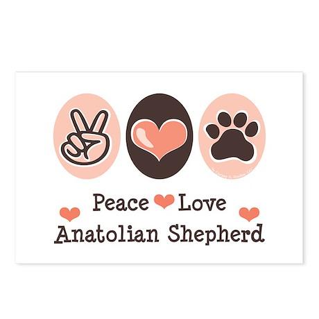 Peace Love Anatolian Shepherd Postcards (Package o