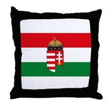 Hungary Flag Throw Pillow