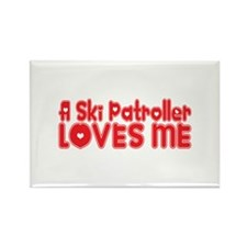 A Ski Patroller Loves Me Rectangle Magnet
