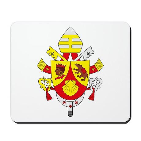 Pope Benedict XVI Coat of Arm Mousepad