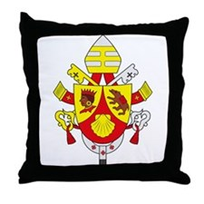 Pope Benedict XVI Coat of Arm Throw Pillow
