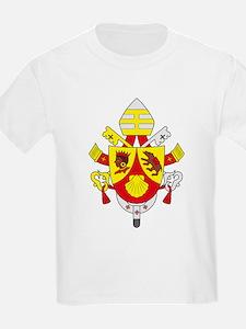 Pope Benedict XVI Coat of Arm Kids T-Shirt