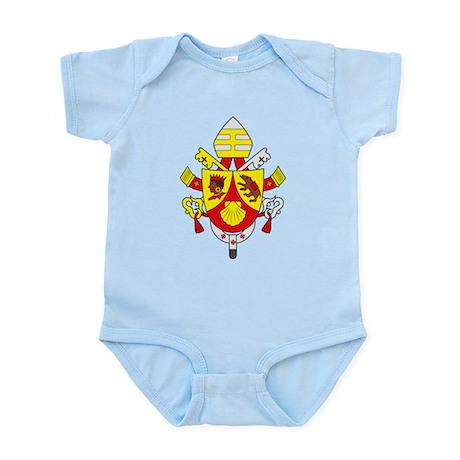 Pope Benedict XVI Coat of Arm Infant Creeper