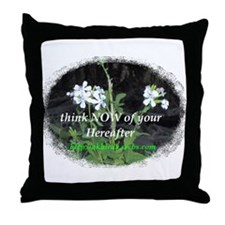 """Think Now"" Flowers Throw Pillow"