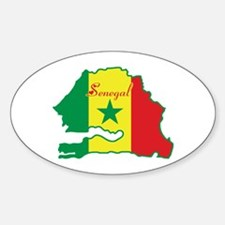 Cool Senegal Oval Decal