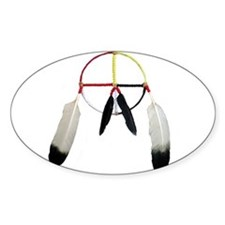 Medicine Wheel Oval Decal