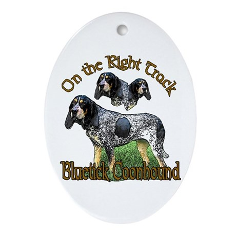Bluetick Coonhound Gifts Oval Ornament