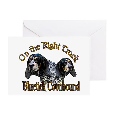 Bluetick Coonhound Gifts Greeting Cards (Package o