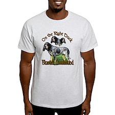 Bluetick Coonhound Gifts Ash Grey T-Shirt