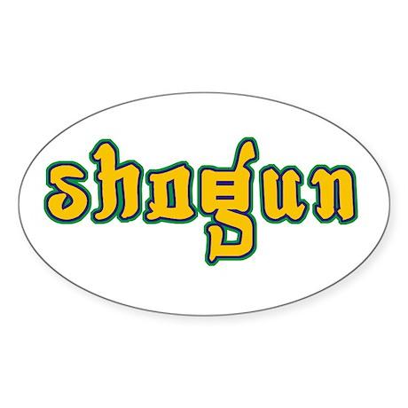 Shogun Oval Sticker
