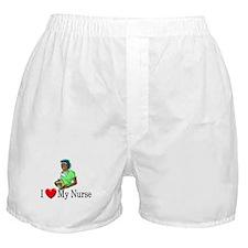 I Love My Nurse Boxer Shorts
