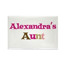 Alexandra's Aunt Rectangle Magnet