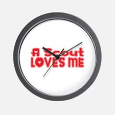 A Scout Loves Me Wall Clock