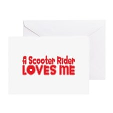 A Scooter Rider Loves Me Greeting Card