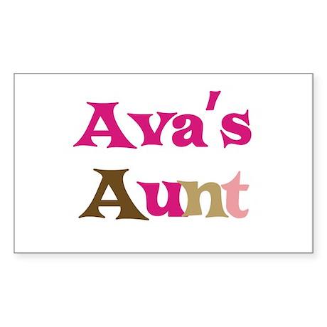 Ava's Aunt Rectangle Sticker