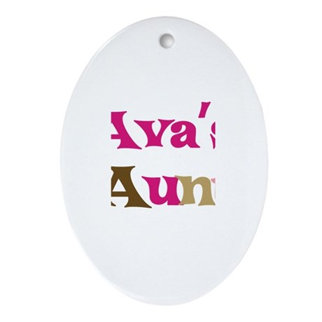 Ava's Aunt Oval Ornament