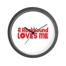 A Rockhound Loves Me Wall Clock