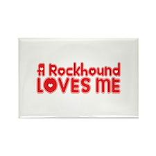 A Rockhound Loves Me Rectangle Magnet (100 pack)