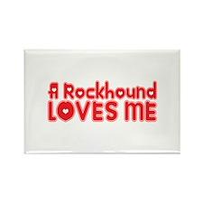 A Rockhound Loves Me Rectangle Magnet