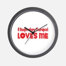 A Respiratory Therapist Loves Me Wall Clock