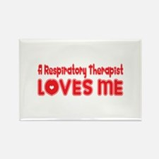 A Respiratory Therapist Loves Me Rectangle Magnet