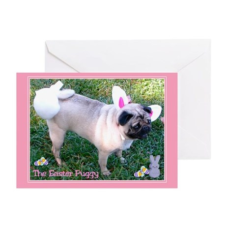 Easter Puggy Greeting Cards (Pk of 10)