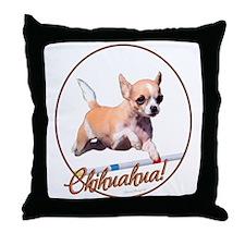 Agility Chihuahua Throw Pillow