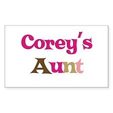 Corey's Aunt Rectangle Decal
