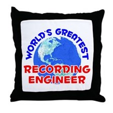 World's Greatest Recor.. (E) Throw Pillow