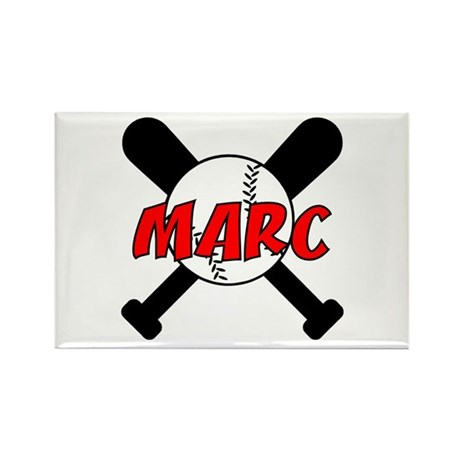 Marc Baseball Rectangle Magnet (10 pack)