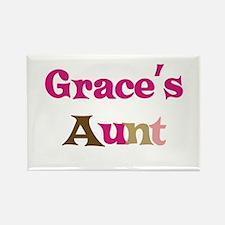 Grace's Aunt Rectangle Magnet
